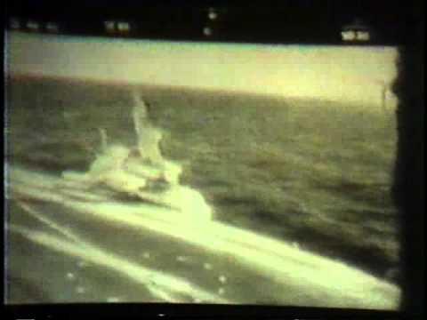 Plane Skids Off Aircraft Carrier