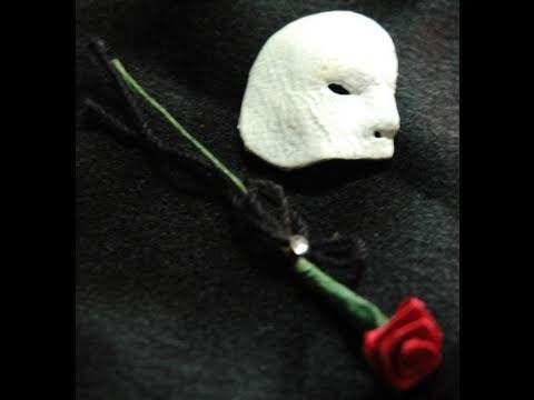 How to Make Phantom of the Opera Mask for Miniature Dollhouse