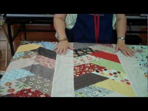 Friendship Braid Quilt Idea Using Half Hex Ruler