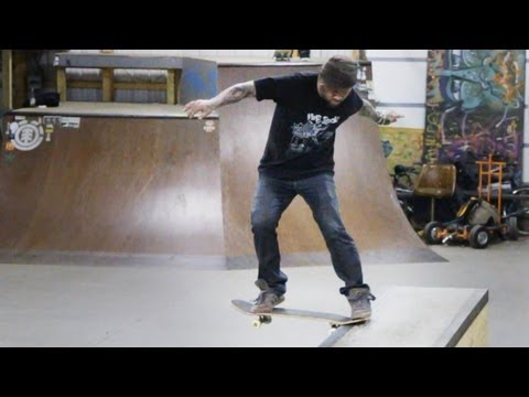 How to Skateboard with Bam Margera: Easy Tricks / Tailslide