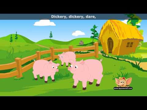 Dickery Dickery Dare - Nursery Rhyme with Lyrics (HD)