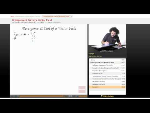 Multivariable Calculus: Divergence & Curl of a Vector Field