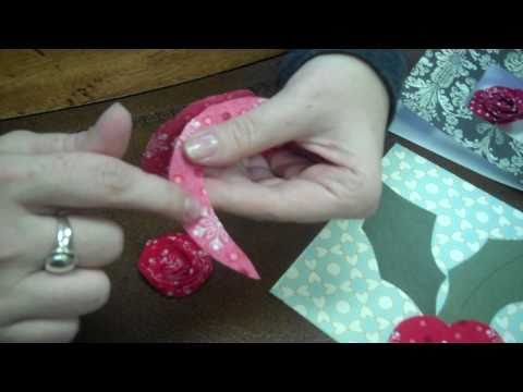 Christmas Card Idea - How to Make Fabric Flower