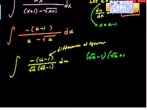 Indefinite Integrals Substitution Method AP Calculus AB