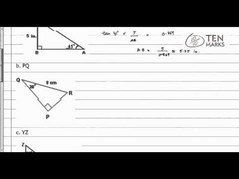 Using Trigonometric Ratios to Find Lengths