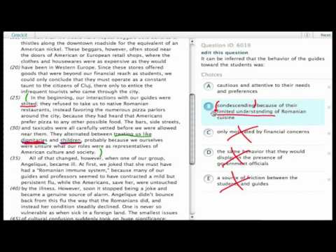 Grockit SAT Reading - Passage Based Reading: Question 6019