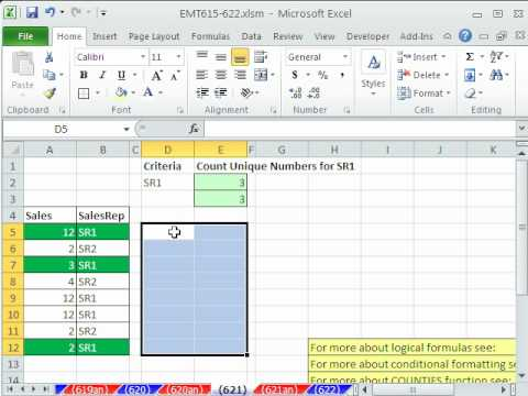 Excel Magic Trick 621: Conditional Formatting Unique Items With One Criteria