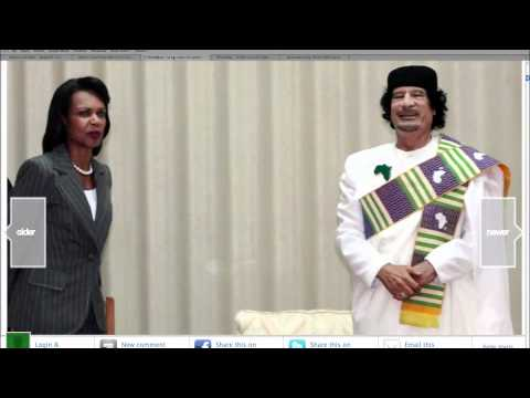 Qaddafi's Condoleeza Rice Photo Album