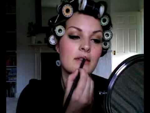 Marilyn Monroe 40's/50's inspired Makeup & Hair demo Pt. 2
