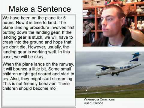 Learn English Make a Sentence and Pronunciation Lesson 126: Plane Landing