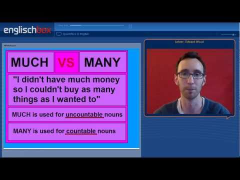 English Grammar | MUCH, MANY and A LOT OF Quantifiers