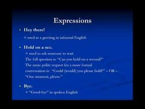 American Slang - Lesson 2