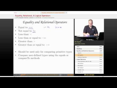 AP Computer Science: Equality, Relational & Logical Operators