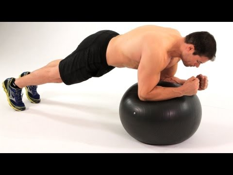 Front Plank on Exercise Ball | Home Ab Workout for Men