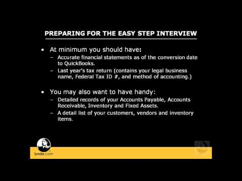 QuickBooks Pro: Preparing for the Easy Step Interview | lynda.com