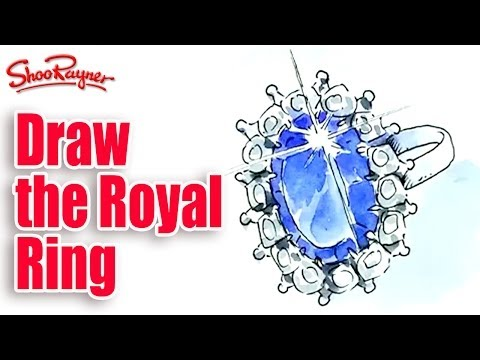 How to draw the Royal Engagement Ring - Kate Middleton