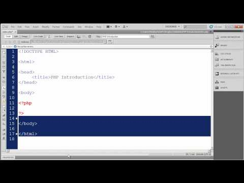3 - Introduction to PHP - The basic structure of PHP documents and statements