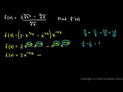 Calculus 3.07x2 - Derivative Example