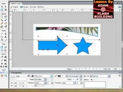 Adobe fireworks CS3 Custom image patterns in your shapes