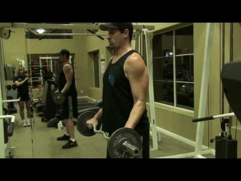 Reverse Biceps Curls w E-Z Curl Bar, Wide Grip