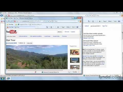How to upload a video to YouTube | lynda.com tutorial