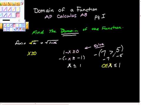 Domain of a Function AP Calculus AP Pt I