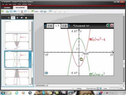 AP Calculus Ti-Nspire CAS Negative Area versus Definite Integral