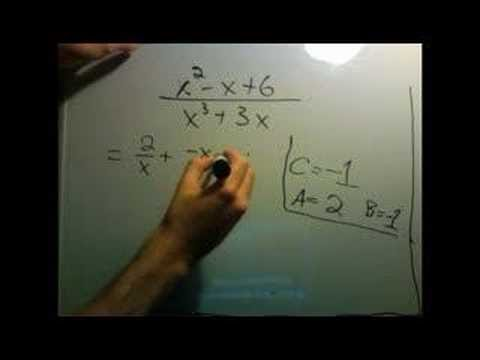 partial fractions part 4: third example