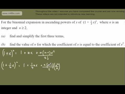 (q3) C2 Exam Practice 2 - LAST MINUTE REVISION ONLY - Binomial expansion Core 2 Edexcel