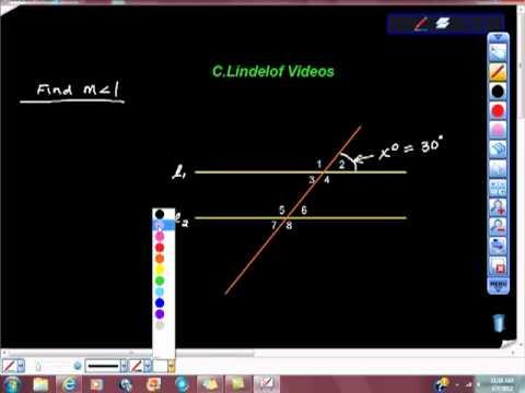 Geometry Corresponding and Supplementary Angles Theorem Algebraically.mp4