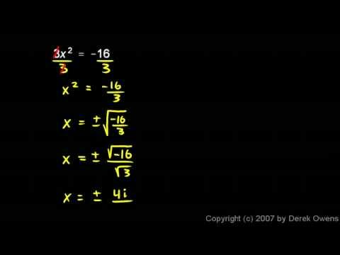 Complex Numbers, Part 2 - Simple Examples