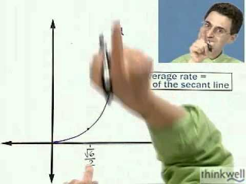 Finding Instantaneous Velocity, Part 1 of 3,  from Thinkwell's Calculus Video Course