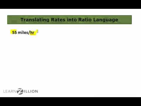 Translate rates into ratios - 6.RP.2