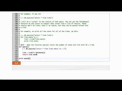Databases In Python Solution - CS253 Unit 3 - Udacity