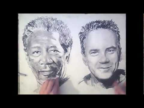 TWO HANDED Drawing - TheportraitArt