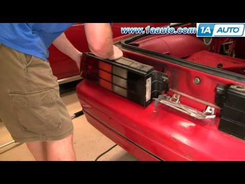 How to Install Replace Rear Ground Effects and Spoiler 1986 Chevy Camaro IROC Z 1AAuto.com