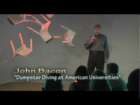 TEDxCreativeCoast - John Bacon - Dumpster Diving at American Universities