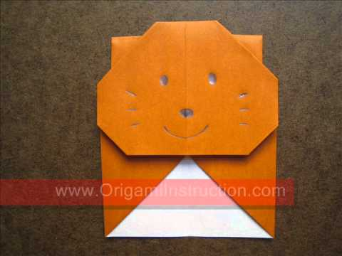 How to Fold Origami Squirrel Bookmark - OrigamiInstruction.com
