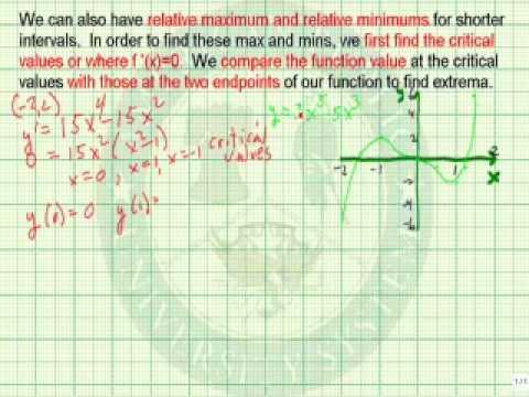 Define Extrema and Relative Extrema