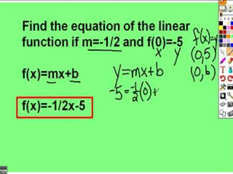 39 Linear Functions