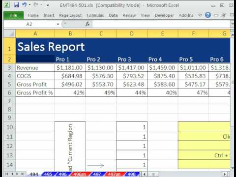 Excel Magic Trick 494: Active Cell Keyboard Shortcut Selection Trick