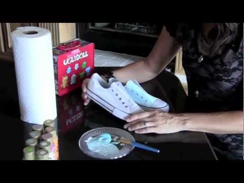 Part 1 Ugly Doll Painted Shoe Project