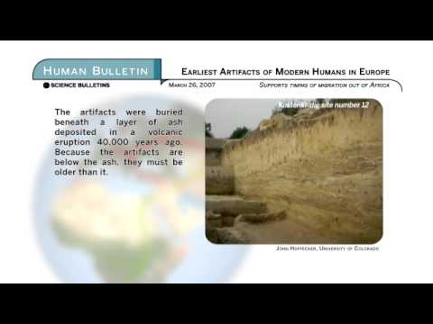 Science Bulletins: Earliest Human Artifacts in Eastern Europe