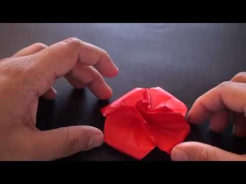 Origami Daily - 171: Easy Rose (Valentine's Day) TCGames [HD]