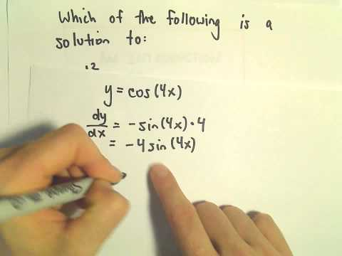 Differential Equations - Basic Idea of What It Means to be a Solution
