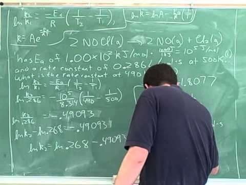 Arrhenius equation. Activation energy (9)