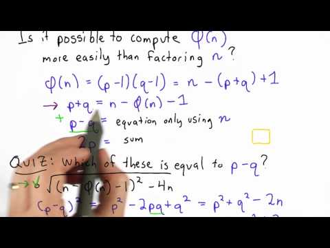 Totient And Factoring Solution - CS387 Unit 4 - Udacity