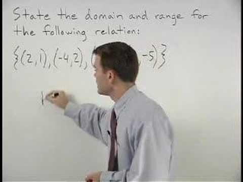 Domain and Range - YourTeacher.com - Algebra Help