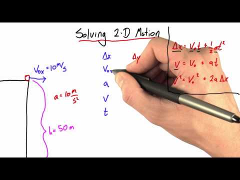 Solving 2D Motion - Intro to Physics - Motion - Udacity
