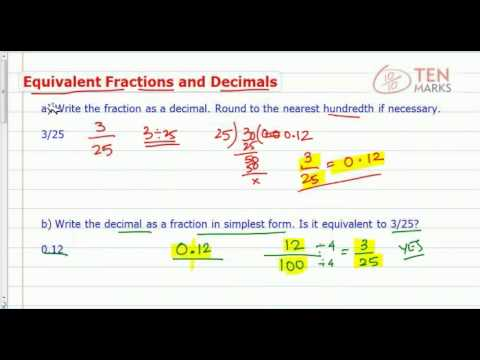 Equivalent Fractions and Decimals
